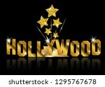 hollywood sign text. movie... | Shutterstock .eps vector #1295767678
