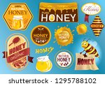 natural honey seal and artwork... | Shutterstock .eps vector #1295788102