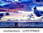 romantic blue sky | Shutterstock . vector #1295799805
