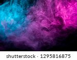 Colorful Pink And Blue Smoke ...