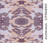 quirky tapestry pattern.... | Shutterstock .eps vector #1295838505