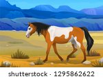 Vector Side View Indian Horse...