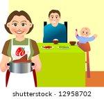illustration for a family... | Shutterstock .eps vector #12958702