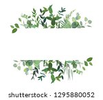 horizontal botanical vector... | Shutterstock .eps vector #1295880052