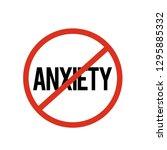 no anxiety icon vector. no... | Shutterstock .eps vector #1295885332