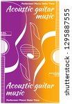 acoustic guitar music. template ... | Shutterstock .eps vector #1295887555