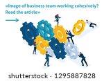 isometric bright template... | Shutterstock .eps vector #1295887828