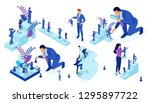 isometric set of business big... | Shutterstock .eps vector #1295897722