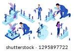 isometric set of business big... | Shutterstock .eps vector #1295897722