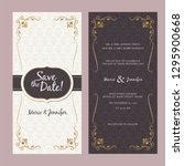 happy wedding invitation... | Shutterstock .eps vector #1295900668