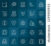 chemical concept outline icons. ... | Shutterstock .eps vector #1295905915