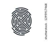 abstract bio metric icon...   Shutterstock .eps vector #1295917468
