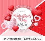 valentines day sale  discont... | Shutterstock .eps vector #1295932732