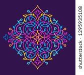 vector vivid illustration. neon ...   Shutterstock .eps vector #1295935108