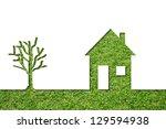 concept or conceptual house...   Shutterstock . vector #129594938