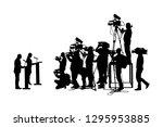 public speaker standing on... | Shutterstock .eps vector #1295953885