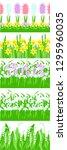 seamless floral set border....   Shutterstock .eps vector #1295960035