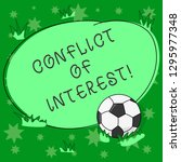 writing note showing conflict... | Shutterstock . vector #1295977348