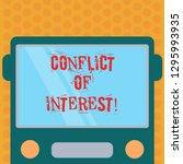 writing note showing conflict... | Shutterstock . vector #1295993935