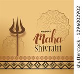 festival greeting for maha... | Shutterstock .eps vector #1296002902