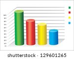 3d business charts | Shutterstock .eps vector #129601265