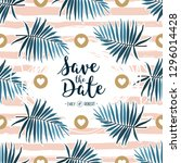 tropical wedding invitation ... | Shutterstock .eps vector #1296014428
