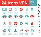 24 vector icons vpn  virtual... | Shutterstock .eps vector #129601835