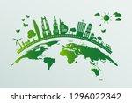 ecology.green cities help the... | Shutterstock .eps vector #1296022342