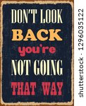 do not look back you are not... | Shutterstock .eps vector #1296035122