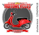 motorcycle of a certain type ... | Shutterstock .eps vector #1296049618