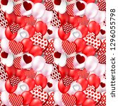 valentines day heart seamless... | Shutterstock .eps vector #1296055798