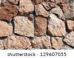 background of stone wall texture | Shutterstock . vector #129607055