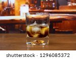black russian cocktail in old...   Shutterstock . vector #1296085372