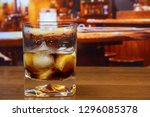 black russian cocktail in old...   Shutterstock . vector #1296085378