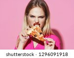 beautiful glamorous woman... | Shutterstock . vector #1296091918