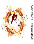 wedding card. raster | Shutterstock . vector #129612092