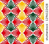 bright seamless pattern with... | Shutterstock .eps vector #1296122428
