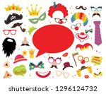 design for jewish holiday purim ... | Shutterstock .eps vector #1296124732