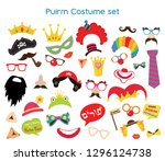 design for jewish holiday purim ... | Shutterstock .eps vector #1296124738