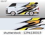 car decal sticker wrap design... | Shutterstock .eps vector #1296130315