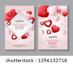 happy valentines day card with... | Shutterstock .eps vector #1296132718