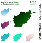 map of afghanistan with... | Shutterstock .eps vector #1296134332