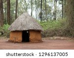 Traditional tribal hut of Kenya people. Bomas of Kenya, Nairobi, East Africa.