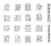 set of list related vector line ... | Shutterstock .eps vector #1296160828