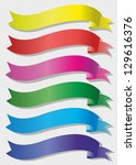 set of colored banners | Shutterstock .eps vector #129616376