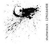 paint splats blotch isolated on ... | Shutterstock .eps vector #1296166408