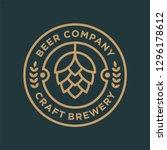 brewery logo design concept.... | Shutterstock .eps vector #1296178612
