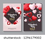 valentines day sale  discont... | Shutterstock .eps vector #1296179002