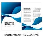vector business brochure  flyer ... | Shutterstock .eps vector #129620696