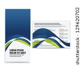 tri fold business brochure... | Shutterstock .eps vector #129620702